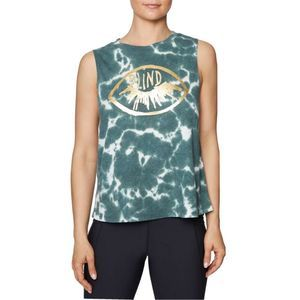 Betsey Johnson Green Tie Dye Tank S